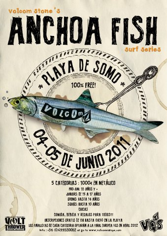 volcom anchoa fish somo cartel surf cantabria 2011 339x480 Volcom Anchoa Fish 2011 este finde en Somo volcom surf somo fish cantabria anchoa 2011  Marketing Digital Surfing Agencia